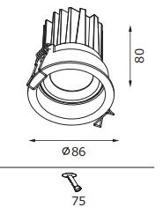 PNY led recessed downlight manufacturer for bathroom-1