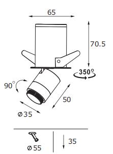 PNY recessed adjustable led downlights online for bedroom-1