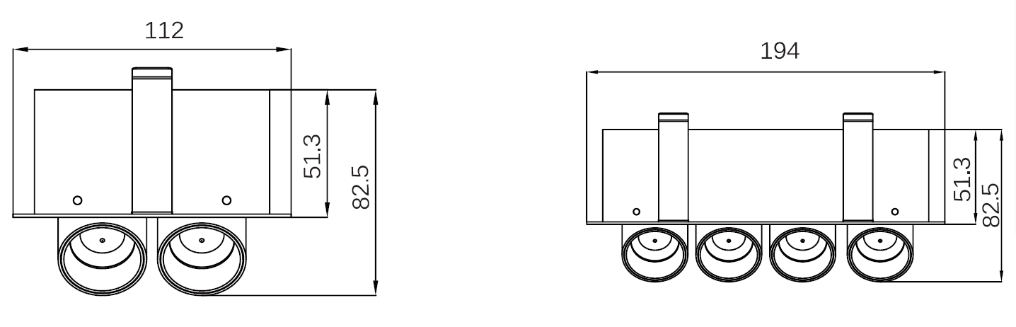 free arrangable recessed spot light 2*7W-1