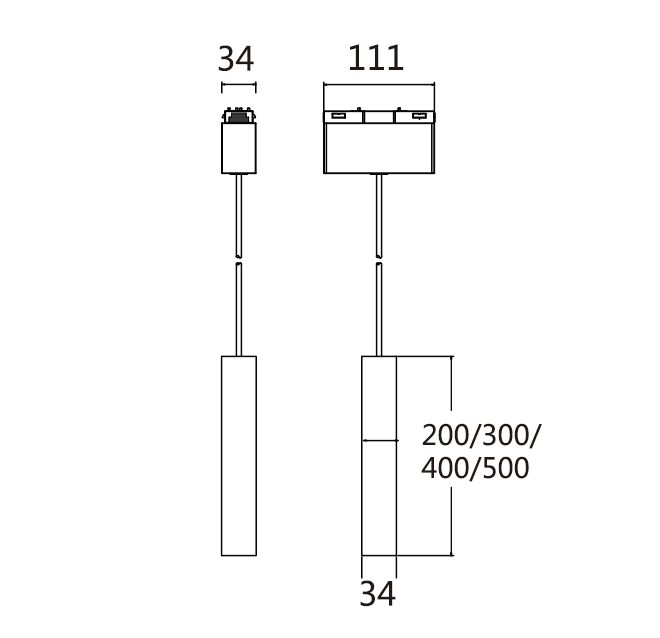 PNY-Pendant Spot Light Module of Magnetic System-1