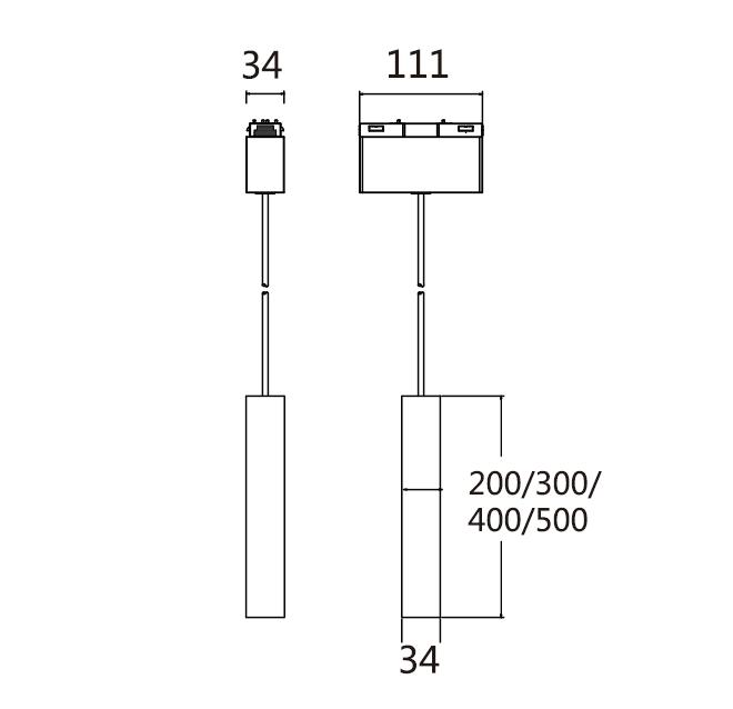 Pendant Spot Light Module of Magnetic System