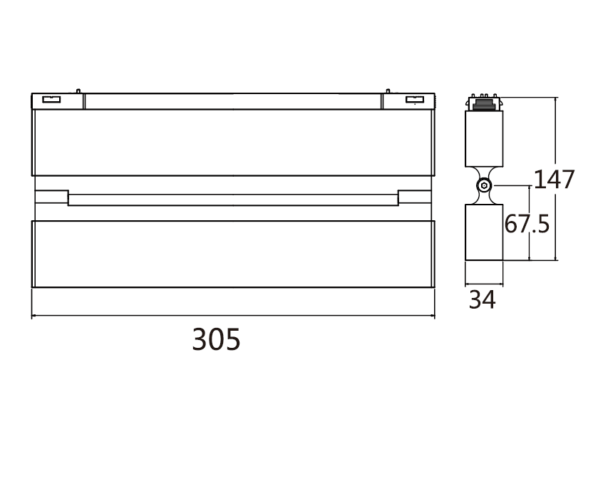 Adjustable 20W flood light Module of Magnetic System