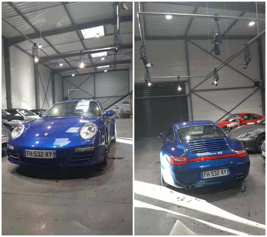France project - PNY track light for Carrera 4S Store
