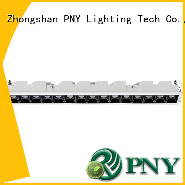 PNY clear pattern led linear down light promotion for building